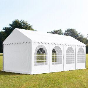 taltpartner.se Partytält 4x8m PVC 550 g/m² vit vattentät