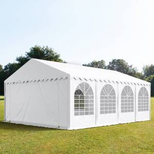 taltpartner.se Partytält 5x8m PVC 550 g/m² vit vattentät