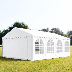 taltpartner.se Partytält 6x8m PVC 550 g/m² vit vattentät