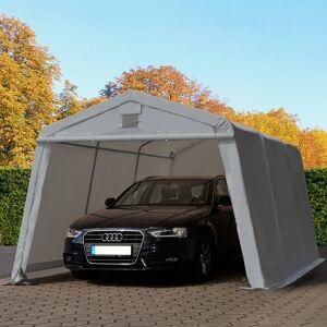 taltpartner.se Garagetält 3,3x4,8m PVC 500 g/m² grå vattentät