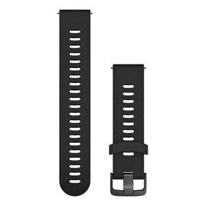 Garmin Quick Release 20 Silikon Slate FR645 - Klockarmband - Svart