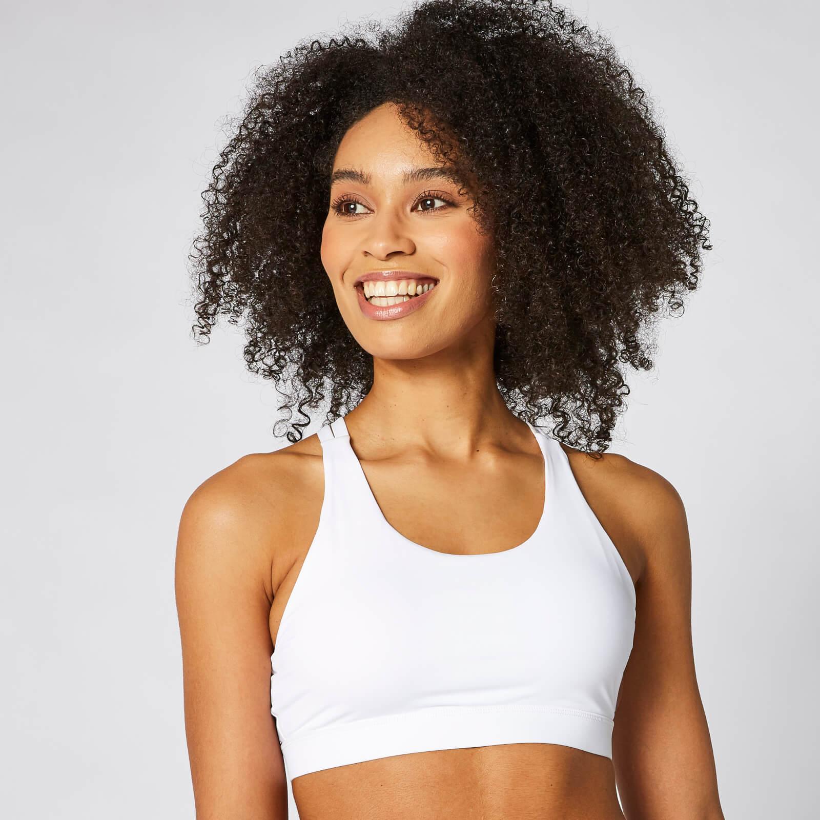Myprotein Control Sports Bra - White - S - Vit