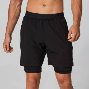MP Power Double-Layered Shorts - Svart - XL