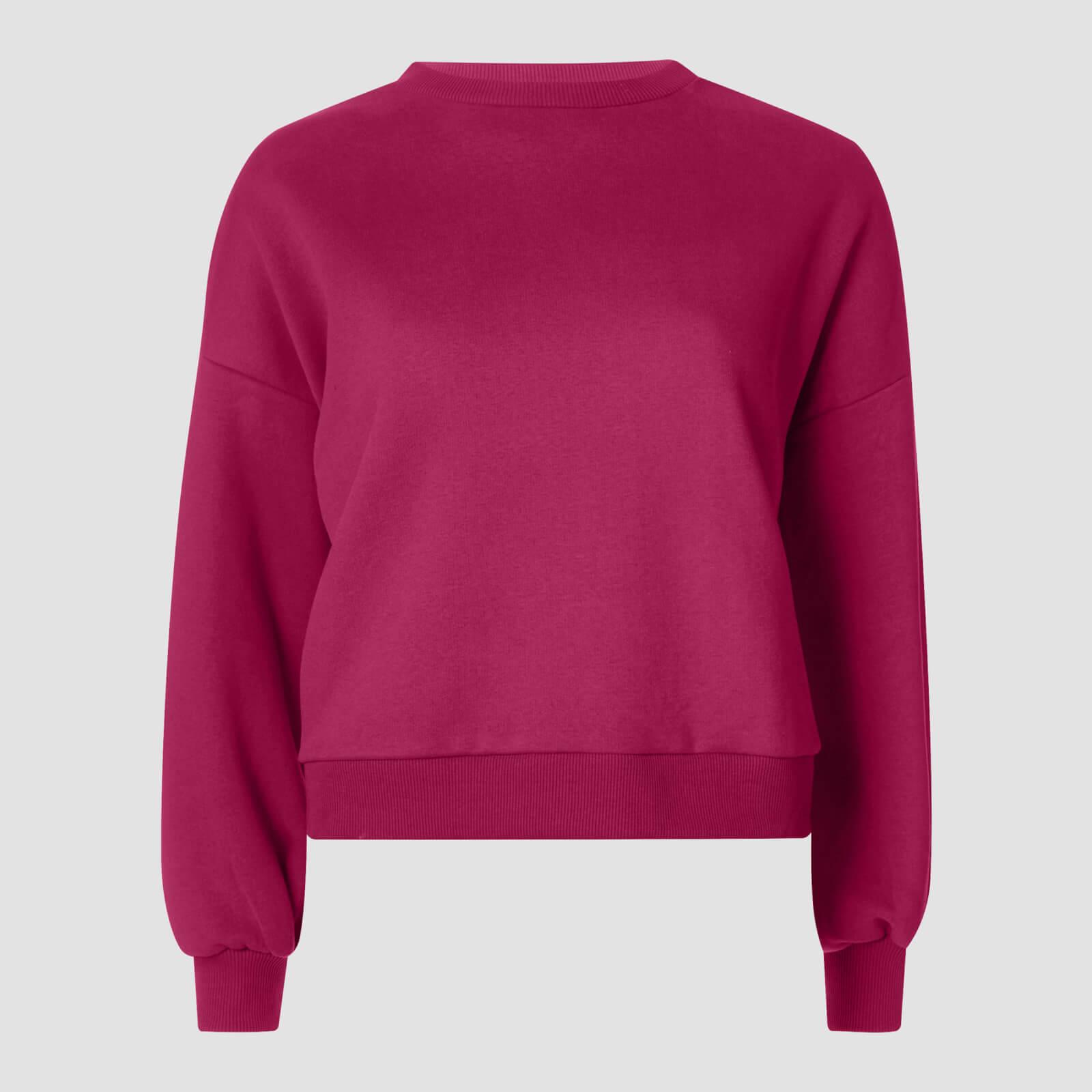 Myprotein Oversized Sweatshirt - Vinröd - L