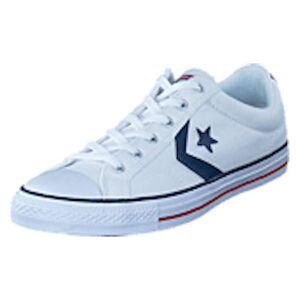 Converse Star Player Ox White/ White, Shoes, vit, EU 37