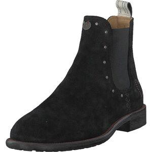 Odd Molly Mollyhood Low Suede Almost Black, Skor, Kängor och Boots, Chelsea Boots, Svart, Dam, 37