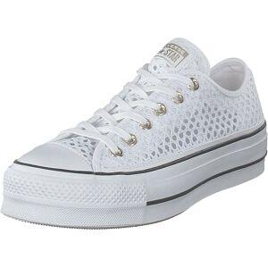 Converse Chuck Taylor All Star Lift Ox White/white/black, Skor, Sneakers och Träningsskor, Låga sneakers, Vit, Dam, 39