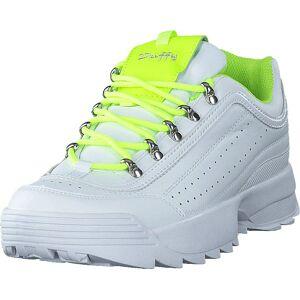 Duffy 84-91875 White/lime, Skor, Sneakers och Träningsskor, Löparskor, Vit, Dam, 38