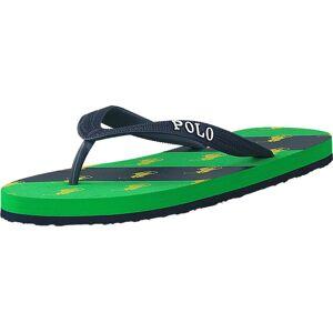 Ralph Lauren Junior Amino Stripe Navy / Green, Skor, Sandaler och Tofflor, Flip Flops, Grön, Blå, Unisex, 27