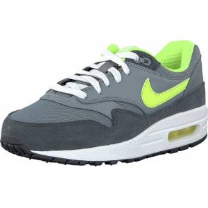 Nike Nike Air Max 1 (Gs) Cool Grey/Volt-Anthrct-White, Skor, Sneakers och Träningsskor, Sneakers, Blå, Grå, Barn, 35
