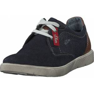 S.Oliver 13600-22 Navy, Skor, Sneakers och Träningsskor, Sneakers, Beige, Blå, Herr, 41