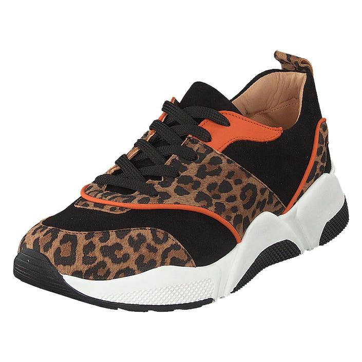 Billi Bi Shoes Leo Suede/black/orange, Dam, Shoes, brun, EU 37