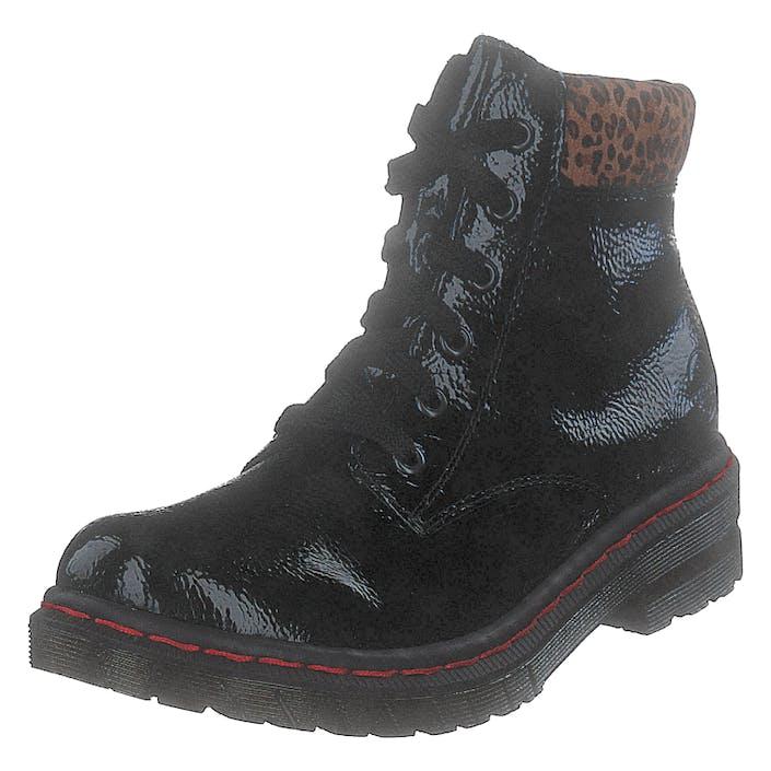 Rieker 76212-00 Black/leo, Dam, Shoes, svart, EU 37