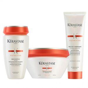 Kérastase Nutritive Bain Satin 2 250ml & Masquintense Thick 200ml & Nectar Thermique 150ml