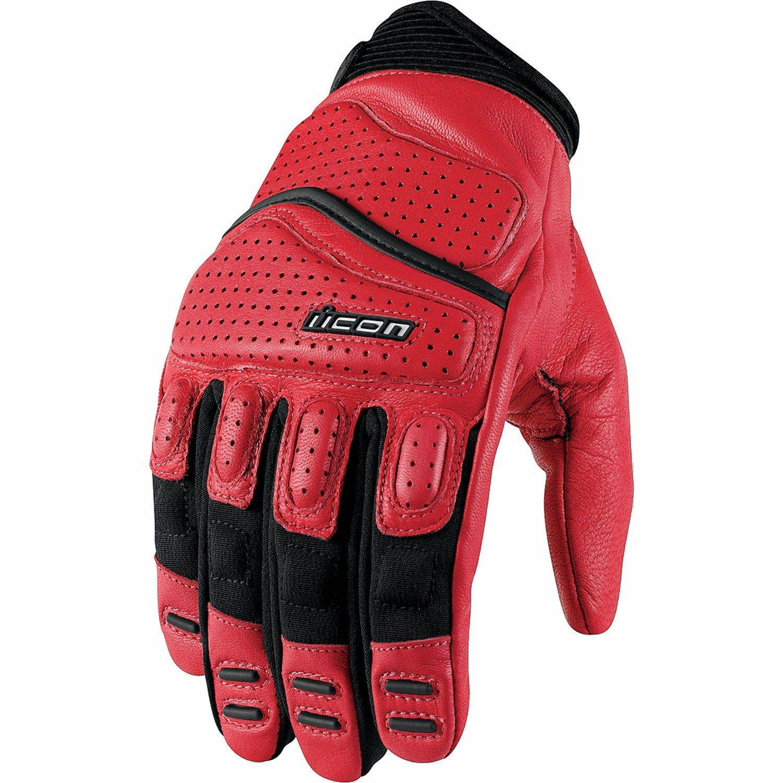 5a48db501f7 mc mc-kläder mc-handskar ICON Skinnhandskar - Small Superduty 2 Textil Röd