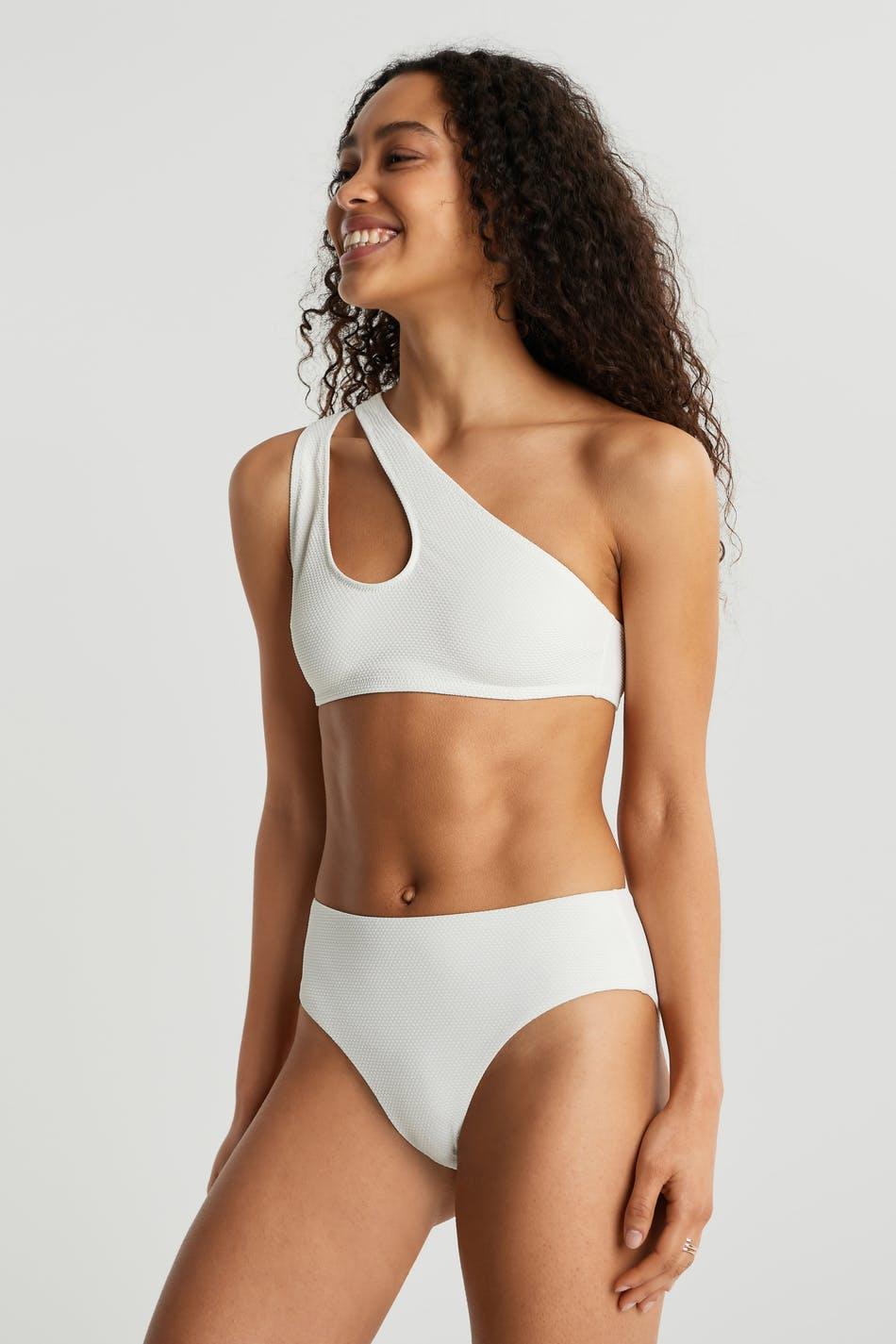 Gina Tricot Nina highwaist bikini brief M Female Cloud dancer (1062)