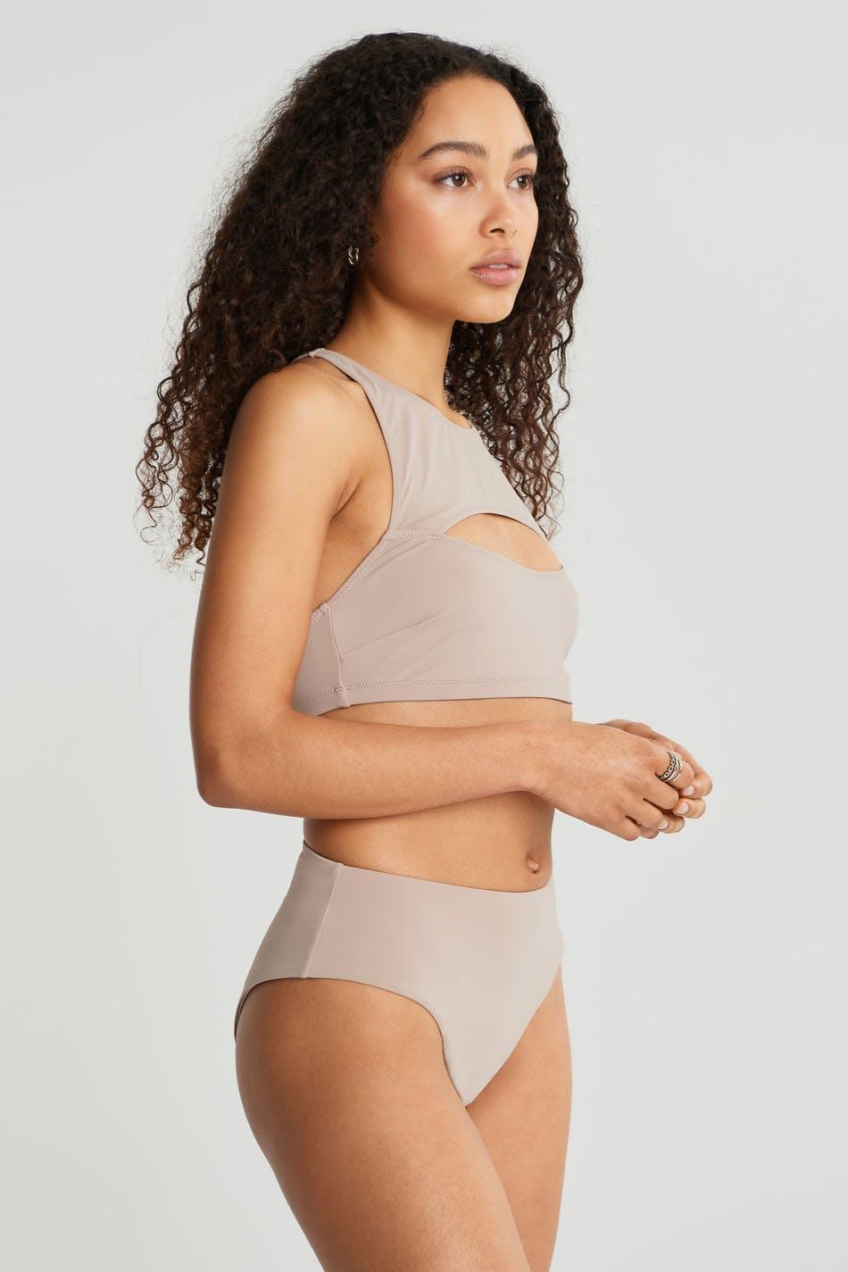 Gina Tricot Casey high waist bikini brief XS Female Goat (7047)