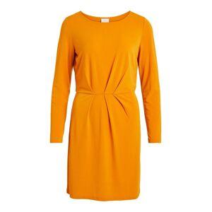 VILA Veckad Långärmad Klänning Kvinna Orange