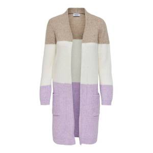 ONLY Long Knitted Cardigan Kvinna Lila