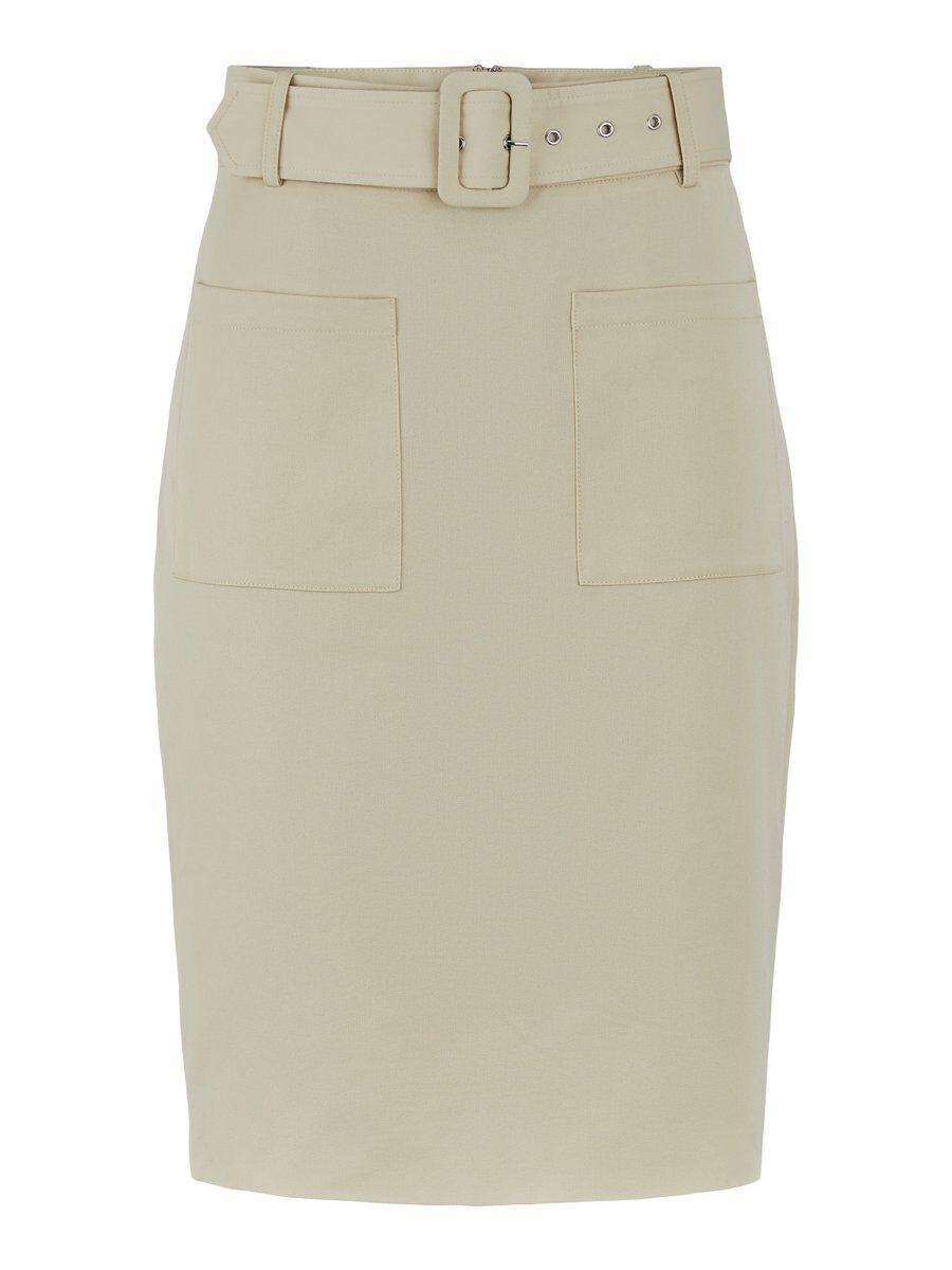 Y.A.S High Waist Belted Mini Skirt Kvinna Beige