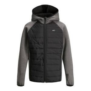 JACK & JONES Junior Huvförsedd Jacka Man Svart