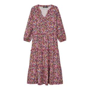 NAME IT Blommig Midiklänning Kvinna Rosa