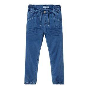 NAME IT Power Stretch Baggy Fit Jeans Kvinna Blå