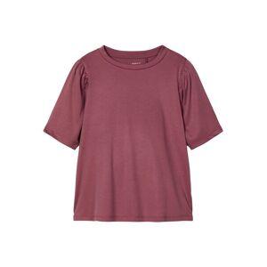 NAME IT Oversize Puffärmad T-shirt Kvinna Rosa