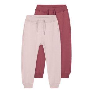 NAME IT 2-pack Brushed Sweatpants Kvinna Rosa