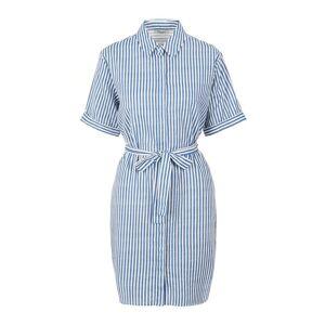 PIECES Randig Skjortklänning Kvinna Blå