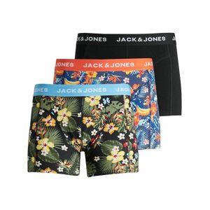 JACK & JONES 3-pack Med Blommiga Kalsonger Man Blå
