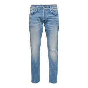 ONLY Onmgreg Slim Fit-jeans Man Blå