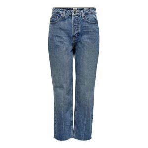 ONLY Onlroxy Hw Straight Fit-jeans Kvinna Blå
