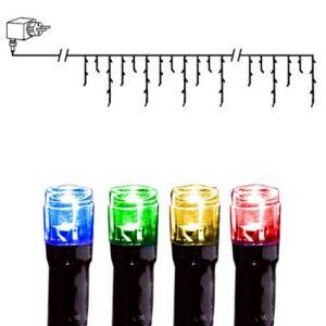 Ljusslinga LED istapp 144 ljus 4 m svart kabel multi