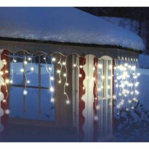 Airam ljusslinga LED, istappar, 140 st lampor, 6,8 m