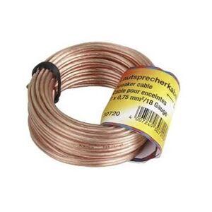 Hama Speaker Cable 2x0,75 mm2 - 10m - Transparent
