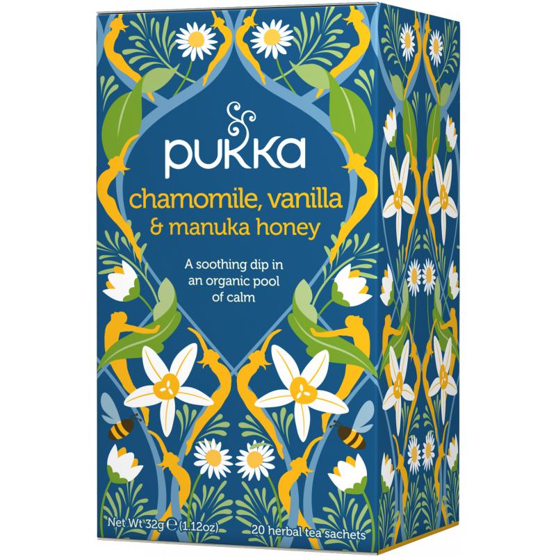 Pukka Chamomile, Vanilla & Manuka Honey Tea EKO 20 påsar The