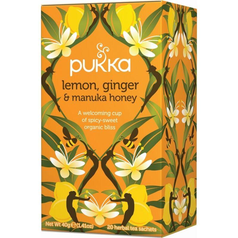 Pukka Lemon, Ginger & Manuka Honey Tea Eko 20 påsar The