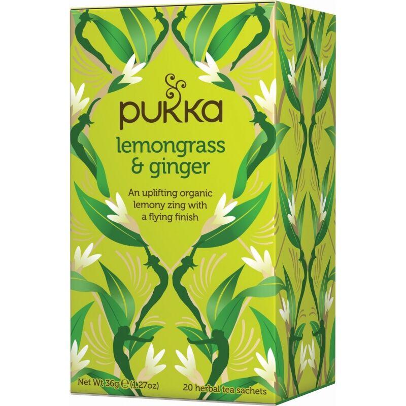 Pukka Lemongrass & Ginger Tea EKO 20 påsar The