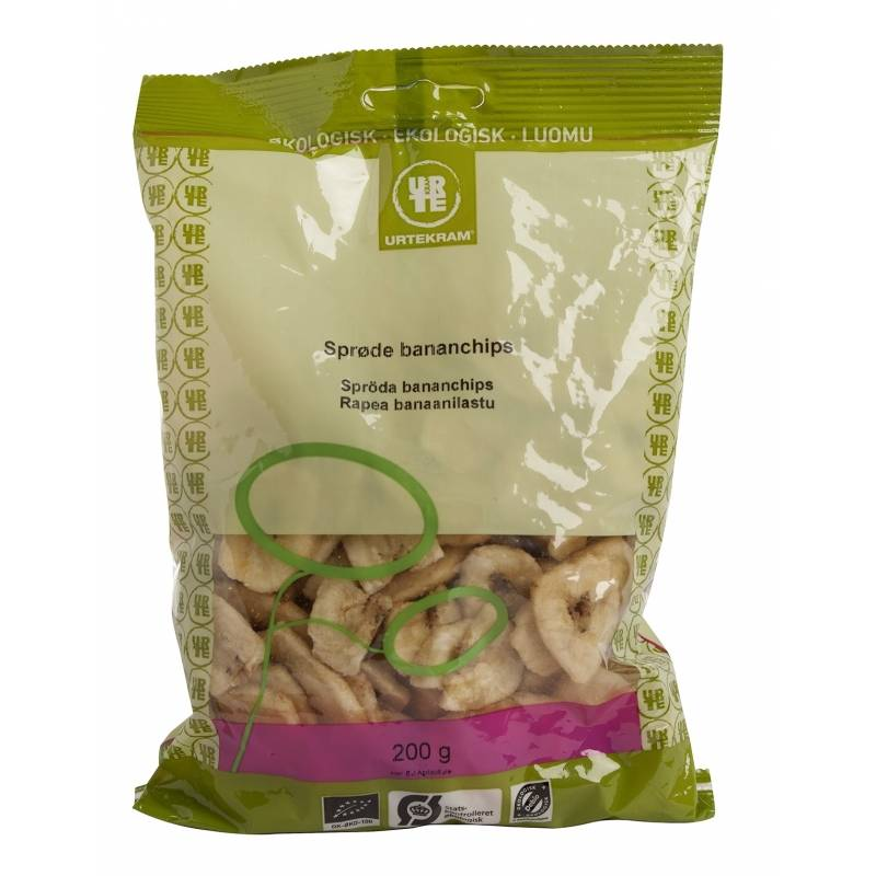 Urtekram Bananchips EKO 200 g Snack