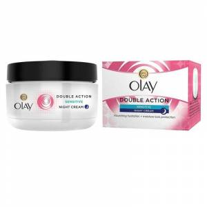 Olay Double Action Night Cream & Primer Sensitive 50 ml Nattkräm