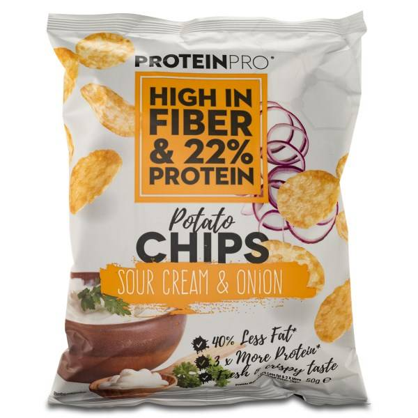 FCB ProteinPro Chips Sour Cream & Onion 50 g