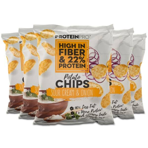 FCB ProteinPro Chips Sour Cream & Onion 5-pack