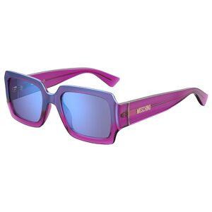 Moschino MOS063/S Solglasögon male Transparent Purple/Blue