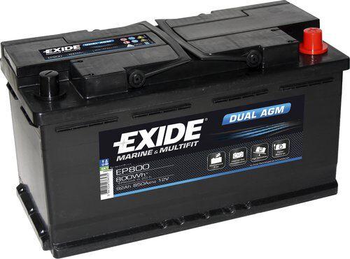 Exide/Tudor Exide marin dual agm batteri, 92ah