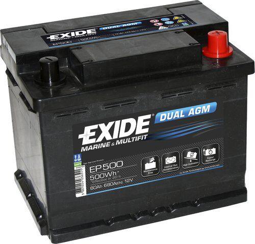 Exide/Tudor Exide marin dual agm batteri, 60ah