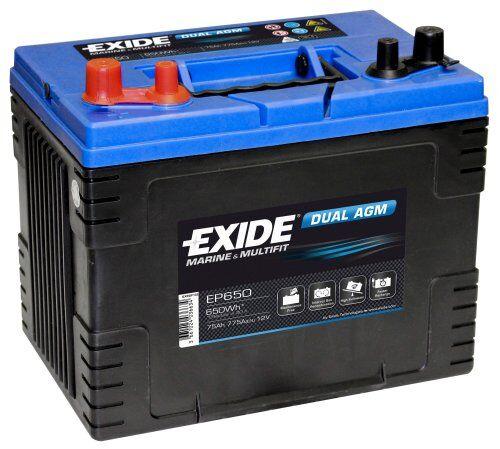 Exide/Tudor Exide dual agm batteri, 72 ah 650 wh