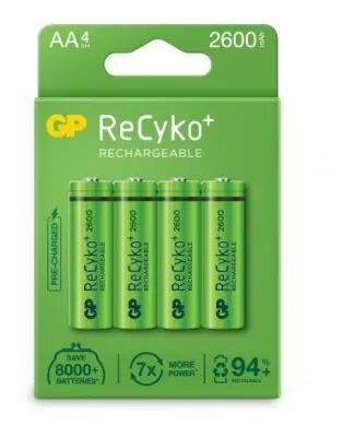 GP AA GP 2600mAh ReCyko  NI-MH - 4 pack