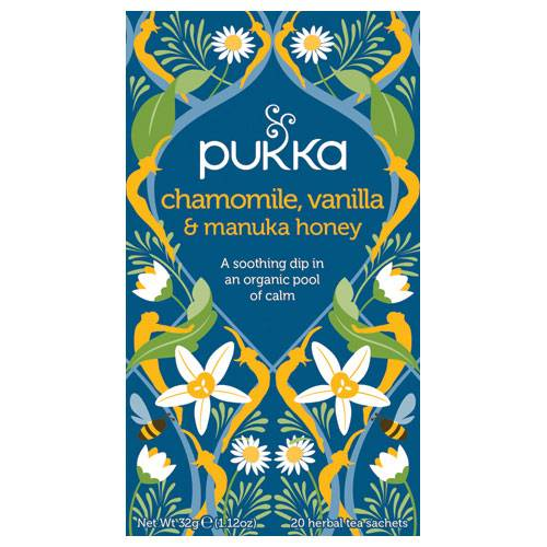 Pukka Chamomile, Vanilla & Manuka Honey Te (20 påsar)