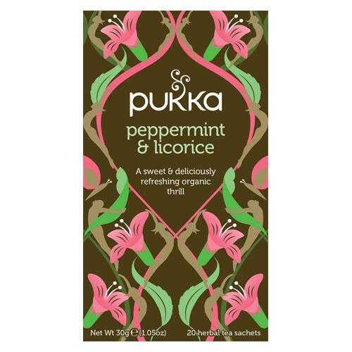 Pukka Peppermint & Licorice Te (20 påsar)